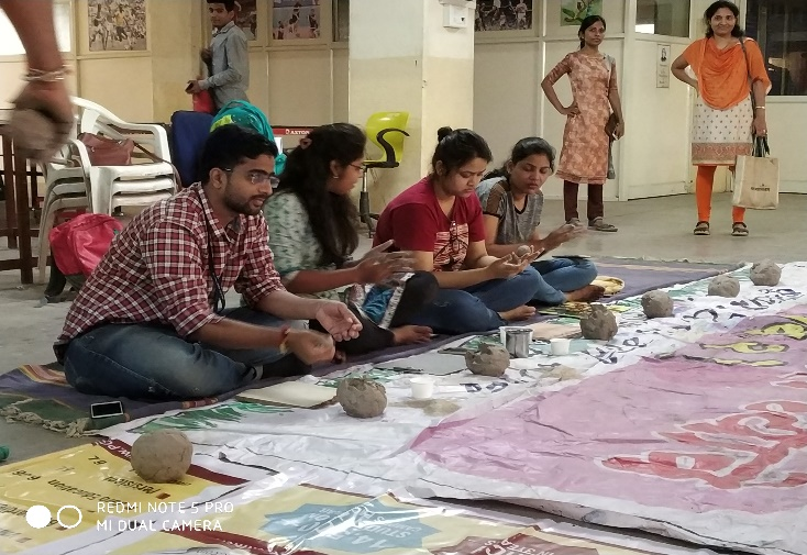 Eco friendly Ganpati making Workshop, PCCOE