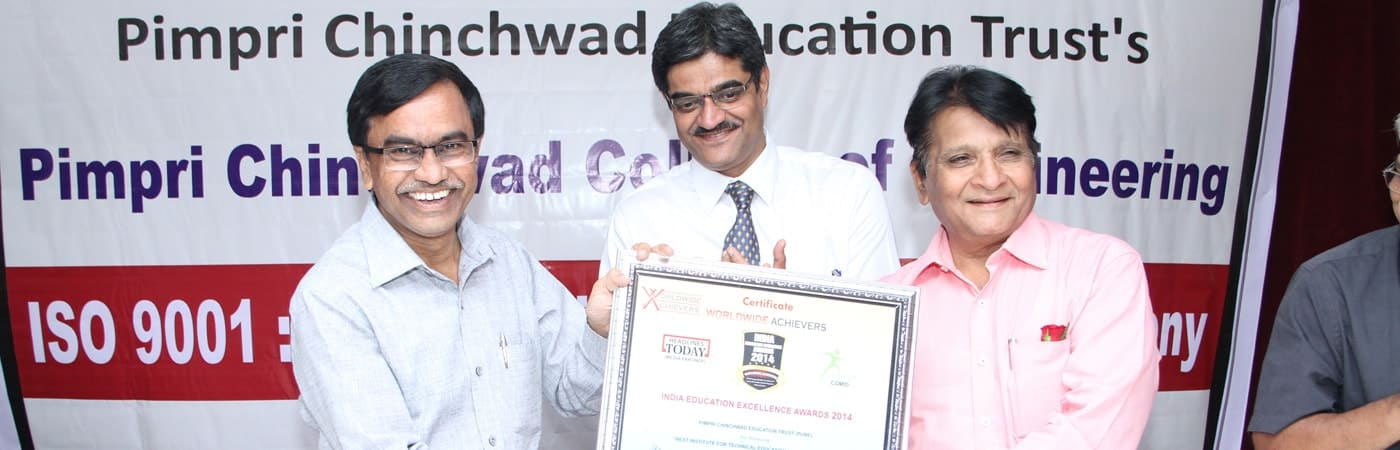 PCCoE has been declared the best Institute for Technical Education.